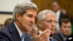 ABD Dışişleri Bakanı John Kerry ve Savunma Bakanı Chuck Hagel Kongrede ifade verirken