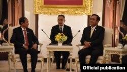 သမၼတ ဦး၀င္းျမင့္ ႏွင့္ ထိုင္း၀န္ႀကီးခ်ဳပ္ Prayut Chan-o-cha (Myanmar President Office)