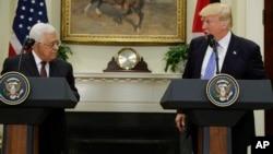 El presidente Trump junto al líder palestino, Mahmoud Abbas el 3 de mayo de 2017 en la Casa Blanca.