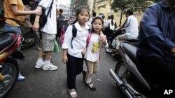 Ảnh minh họa: Trẻ em Việt Nam tại Hà Nội.