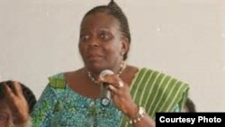 FILE - Gloria Scott of Liberia.