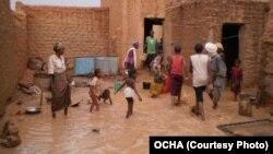 Inondations à Agadez, Niger, 5 juillet 2012.