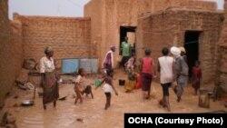 Inondations à Agadez au Niger en juillet 2012. Cett année-là, on a décompté 500.000 sinistrés et 148 millions d'euros de dégâts.