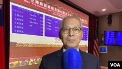 台湾驻美代表2020年1月11日就台湾总统选举结果接受美国之音采访(美国之音记者锺辰芳拍摄)