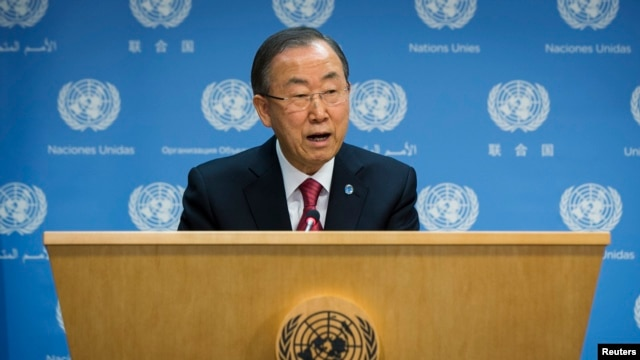 FILE - U.N. Secretary General Ban Ki-moon