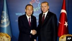 Ban ki-moon et Recep Tayyip Erdogan, Istanbul, 23 mai 2016