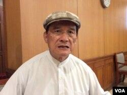 台湾前国防部长蔡明宪(美国之音记者申华 拍摄)