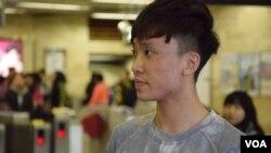 香港大學學生會會長黃政鍀。(美國之音湯惠芸)