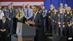 Барак Обама на выступлении в Миннеаполисе, Миннесота. 4 февраля 2013 года
