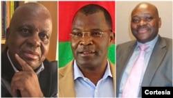 Candidatos à presidência da UNITA: Alcides Sakala, José Pedro Katchiungo e Raúl Danda