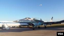 去年莫斯科航展上展出的米格-1.44戰機。