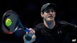 Andy Murray lors de la finale d'ATP en Angleterre, Londres le 20 Novembre 2016.