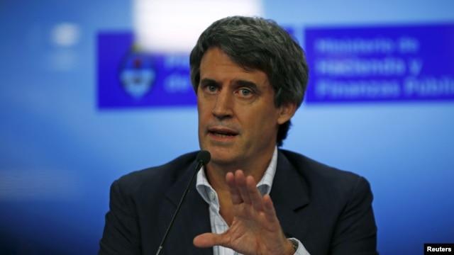FILE - Argentina's Finance Minister Alfonso Prat-Gay