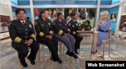 برنامه روزگاه «میگن کلی» از شبکه ان بی سی - مصاحبه با رئیسهای مونث ادارات پلیس Photo: NBC