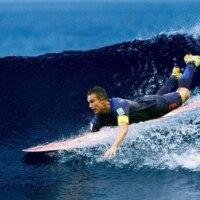 Van Persie surfing.