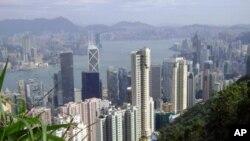 俯瞰香港维多利亚港湾
