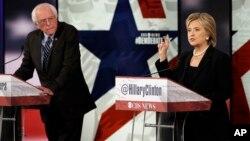 Берни Сандерс и Хиллари Клинтон (архивное фото)