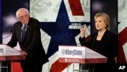 Xillari Klinton va Berni Sanders debatda, Ayova shtati, 14-noyabr, 2015