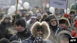 Rossiyada minglab fuqaro namoyishga chiqqan (video)