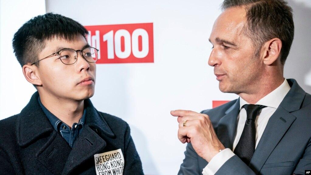 Ngoại trưởng Đức Heiko Maas trong cuộc gặp với anh Joshua Wong hôm 9/9.