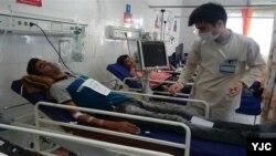 Penanganan pasien terinfeksi virus corona di salah satu rumah sakit di Iran. (Foto: dok).