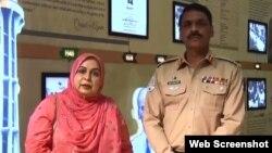 ڈیفنس آف ہیومن رائٹس کمشن کی آمنہ مسعود جنجوعہ ڈی جی آئی ایس پی آر کے میجر جنرل آصف غفور سے لاپتا افراد کے معاملے پر ملاقات۔ 5 جولائی 2019