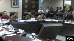 Menkopolhukam Wiranto di Kantor Staf Kepresidenan Gedung Bina Graha Jl Veteran Jakarta Pusat, Kamis 19 Oktober 2017. (Foto: Andylala/VOA)