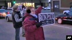 ພວກໂຄສະນາຫາສຽງຂອງທ່ານ Ron Paul ທີ່ລັດໄອໂອວາ (29 ທັນວາ 2011)