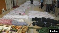 Posmrtni ostaci žrtava masakra u Huli