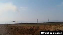 Azərbaycan Silahlı Qüvvələrinin vurduğu helikopter