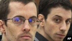 被伊朗当局判刑的美国徒步旅行者沙恩.鲍尔(左)和乔希.法塔尔