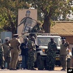 Des policiers à Lilongwe