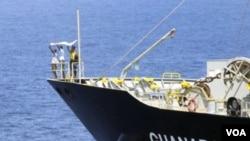 Tiga tersangka bajak laut Somalia menyerah setelah gagal membajak kapal tanki Jepang MV Guanabara (foto dok.: 6/3/11).