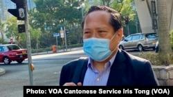 本身是律師的民主黨前主席何俊仁表示,8-18案的檢控以及公安條例的合憲性受到質疑及挑戰 (攝影:美國之音湯惠芸)