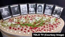 تصاویر کارمندان تلویزیون طلوع که در نتیجه حملۀ طالبان کشته شدند.