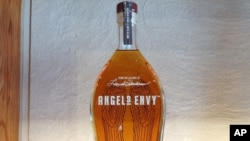 A bottle of Angel's Envy bourbon is displayed at the gift shop of Angel's Envy distillery, in Louisville, Kentucky.