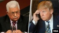Presiden AS Donald Trump berbicara lewat telepon dengan Presiden Palestina Mahmoud Abbas (foto: ilustrasi).