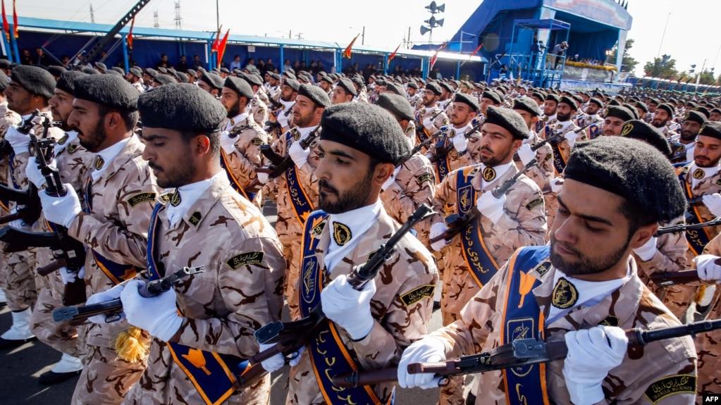 Các binh sỹ thuộc lực lượng Vệ binh Cộng hòa Iran