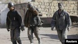 中國黑龍江省煤礦工人
