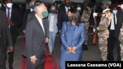 Presidente português Marcelo Rebelo de Sousa e ministra dos Negócios Estrangeiros da Guine-Bissau, Suzi Barbosa