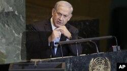 ນາຍົກລັດຖະມົນຕີອິສຣາແອລ ທ່ານ Benjamin Netanyahu ກ່າວຄຳປາໄສ ຕໍ່ກອງປະຊຸມສະມັດຊາໃຫຍ່ ສະຫະປະຊາຊາດ (23 ກັນຍາ 2011)