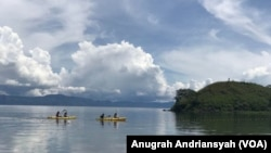 Danau Toba di Sumatra Utara. (Foto: Anugrah Andriansyah/VOA)