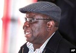 Zimbabwe's main opposition leader Morgan Tsvangirai in Harare, Aug. 1 2013.