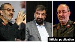 از راست به چپ: مسعود جزایری، محسن رضایی، حسین سلامی