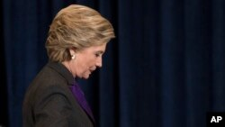 """Nuestro análisis es que la carta de Comey, que levantó dudas que eran infundadas, detuvo nuestro impulso"""", aseguró Clinton."""