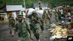Pemberontak M23 mengungsi dari wilayah Masisi dan Sake, sekitar 27 kilometer sebelah Barat Goma, Kongo, 30 November 2012 (Foto: dok).
