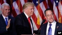 El presidente electo, Donald Trump, seleccionó a Reince Priebus como su jefe de Gabinete.