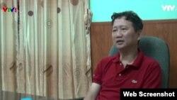 Hình ảnh ông Trịnh Xuân Thanh trên Truyền hình Việt Nam tối 3/8.