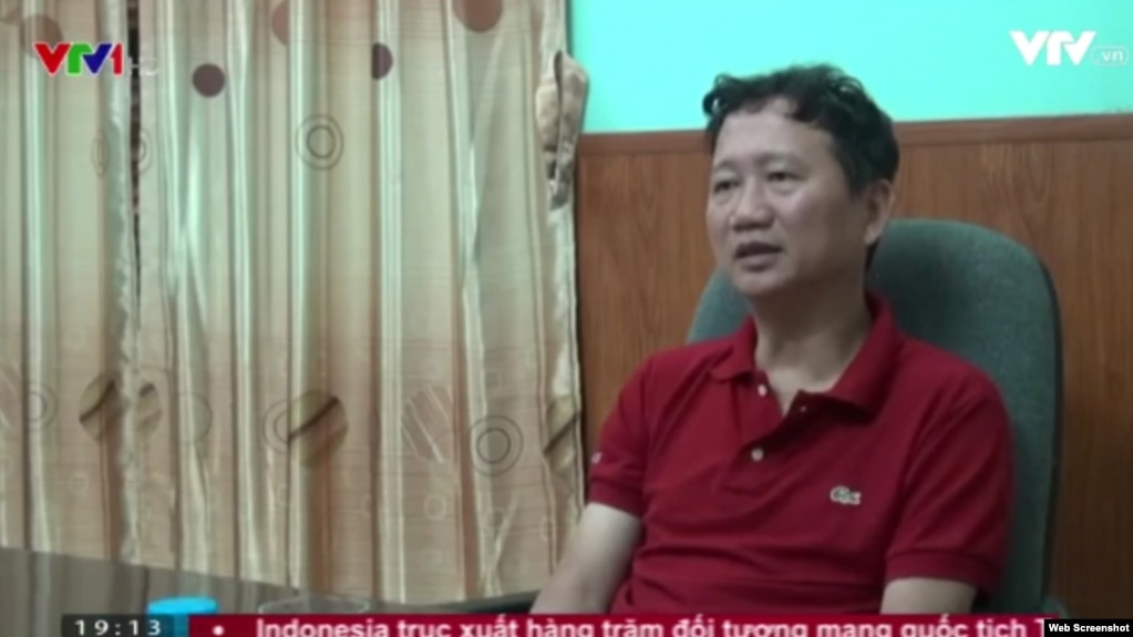 """Ông Trịnh Xuân Thanh """"tự thú"""" trên truyền hình."""