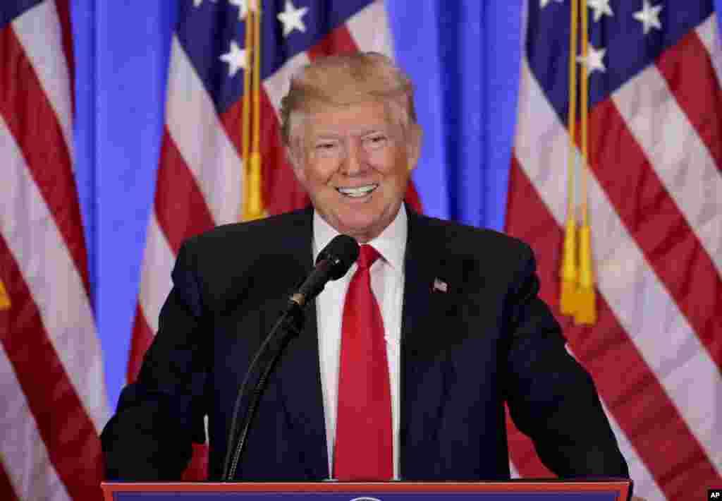 ترامپ در سخنانی از طرح هایی که قصد دارد در روزهای نخست دنبال کند، گفت. او گفت با روسیه رابطه بهتری خواهد داشت.